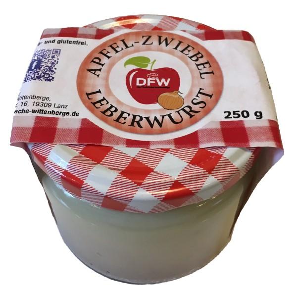 Apfel Zwiebel Leberwurst