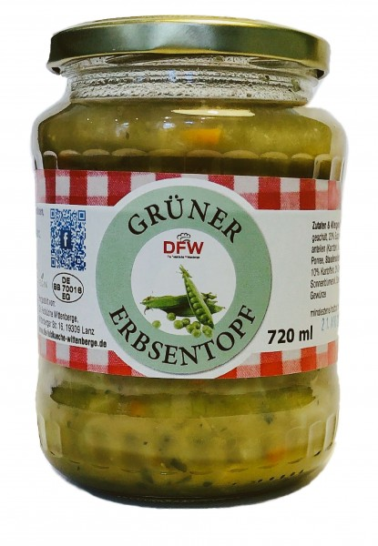 Grüner Erbsentopf - vegan